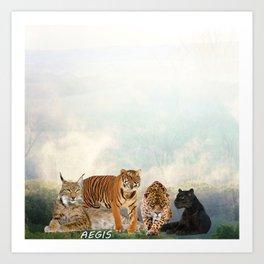 Cat Ageis Art Print