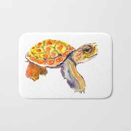 Orange Baby Turtle Bath Mat