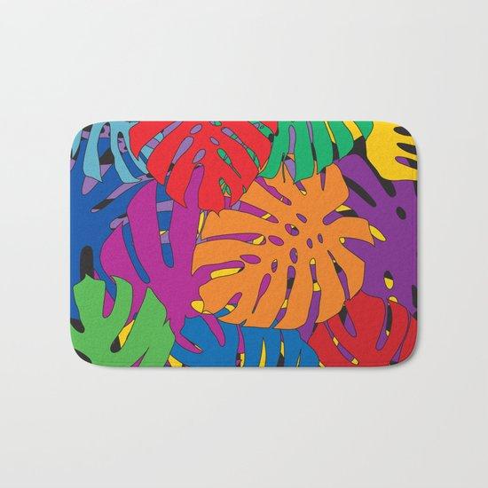 Monstera leaves in Pop Art Bath Mat