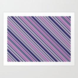 Diagonal Stripes Background XVI Art Print