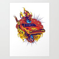muscle Art Prints featuring Muscle by Tshirt-Factory