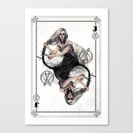 Jack of Scissors Canvas Print