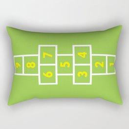 Hopscotch Green Rectangular Pillow