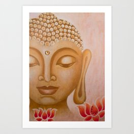 Buddha & Lotus 5 Art Print