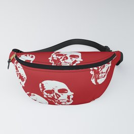 Hot Skulls, red white Fanny Pack