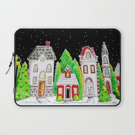Snowy Village Laptop Sleeve