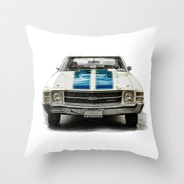 CLASSIC CAR LOVE Throw Pillow