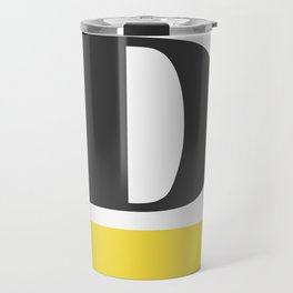 Monogram Letter D-Pantone-Buttercup Travel Mug
