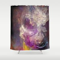 charlie Shower Curtains featuring Charlie by Andy Depp