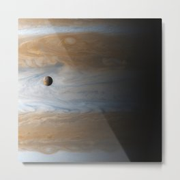 Above the Clouds – Jupiter and Io Metal Print