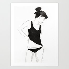Ink Girl Art Print