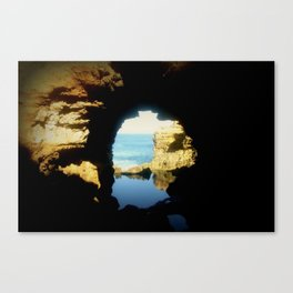 Inside looking Out to the Great Southern Ocean Canvas Print