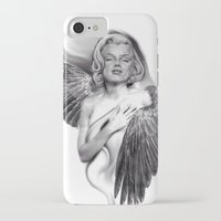 marylin monroe iPhone & iPod Cases featuring Marylin by Gianluca Fascetto Tattooer Painter