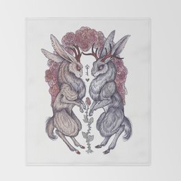 Rare Hearts Throw Blanket