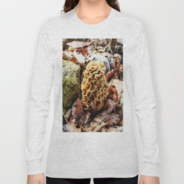 Morel Mushroom in the Wild Long Sleeve T-shirt