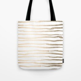White Gold Sands Painted Lines Tote Bag