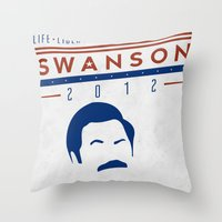swanson Throw Pillows featuring Swanson 2012 by Clarke Hall