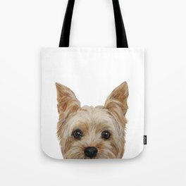 Yorkshire Terrier original painting print Tote Bag
