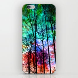 colorful abstract forest iPhone Skin