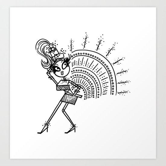 Mimi Art Print
