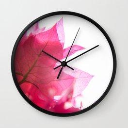 Bright Bougainvillea Wall Clock