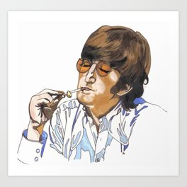 John with ciggie Art Print