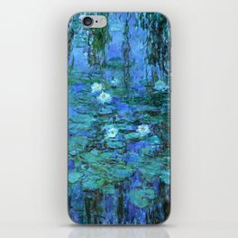 Claude Monet Water Lilies BLUE iPhone Skin
