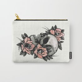 Skull and roses - tattoo Carry-All Pouch
