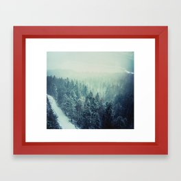 Climbing the Tallest Mountain in Germany Framed Art Print