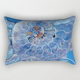 Blue seashell -mother-of-pearl - Beautiful backdrop Rectangular Pillow