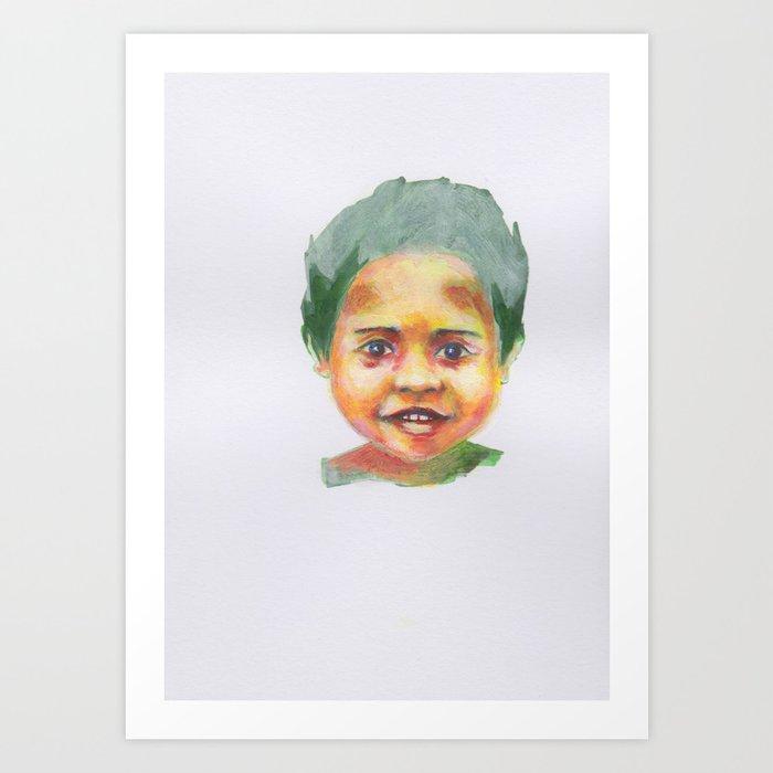 Petites têtes 3 Art Print