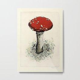 Fly Agaric mushroom print Metal Print