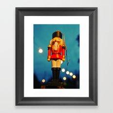 Nutcracker at night Framed Art Print
