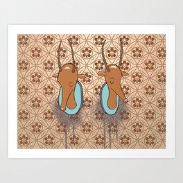 Antelope Trophies Art Print