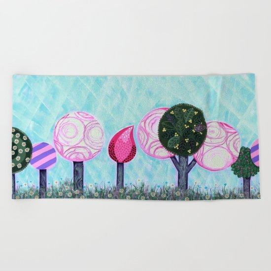 Pink grove Beach Towel