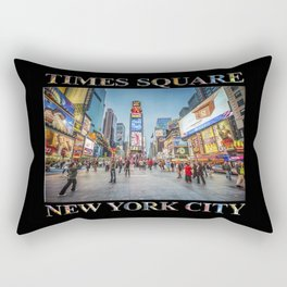 Times Square Sparkle (with type on black) Rectangular Pillow