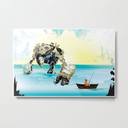 Cassie & Tonk: Gone fishin Metal Print
