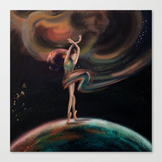 The dancing universe Canvas Print