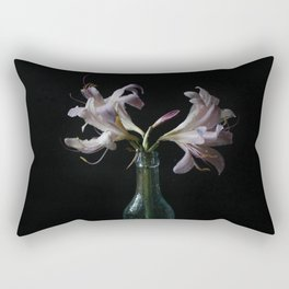 Resurrection Lily in a Vintage Bottle Rectangular Pillow