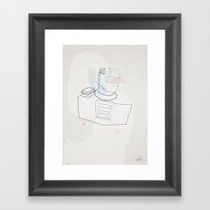 One Line Rom Greatest of the Spaceknights Framed Art Print