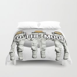 To The Moon Duvet Cover