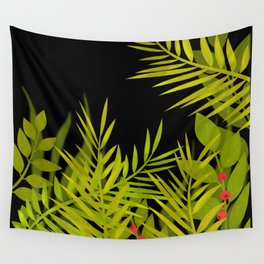 The leaves and berries. Wall Tapestry