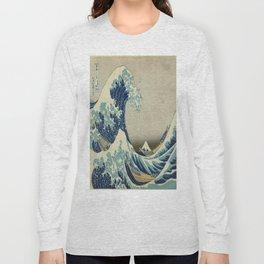 Vintage poster - The Great Wave Off Kanagawa Long Sleeve T-shirt