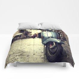 Rainy Day Vespa Comforters