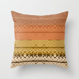 Desert Tread Plate Throw Pillow