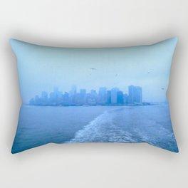 Feelin' Blue, New York City Rectangular Pillow