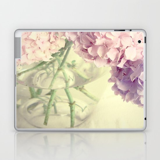 Soft Pink Summer Flowers Laptop & iPad Skin