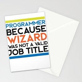 Programmer Wizard Stationery Cards
