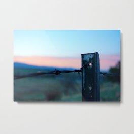 On the fence  Metal Print