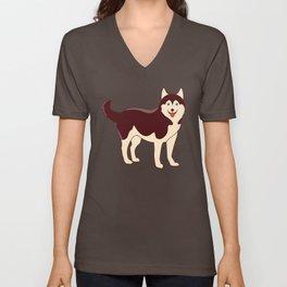 Husky Dog Unisex V-Neck